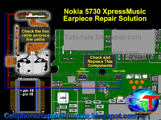 Nokia 5730 Earpiece speaker repair solution