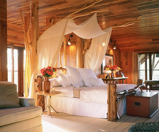 There Is So Much I Love About This Romantic Cabin Bedroom