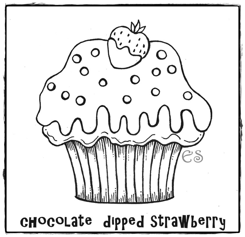 cupcakes coloring pages - Cupcake Coloring Page