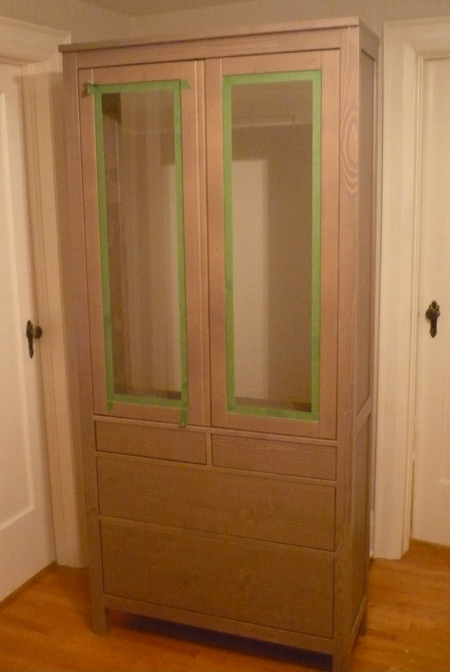 DIY Images to Linen Closet Cabinet