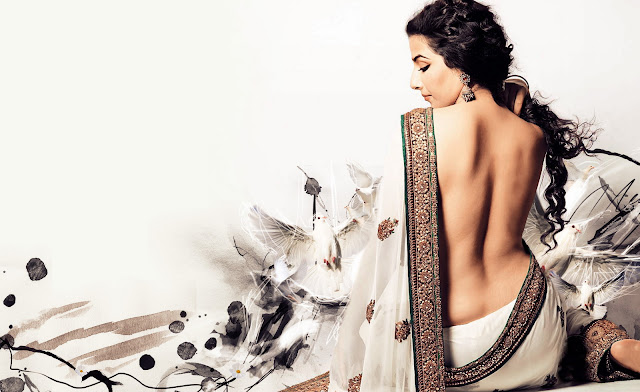Backless Vidya Balan Hot