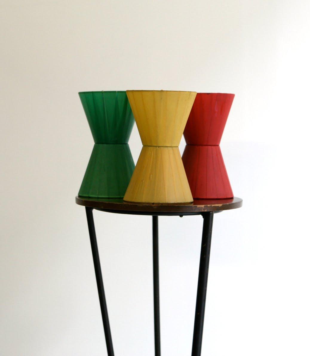 baos lot de 6 abat jour vintage ann es 60. Black Bedroom Furniture Sets. Home Design Ideas