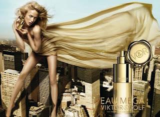 Viktor & Rolf Eau de Mega perfume da rosa negra top model Raquel Zimmermann
