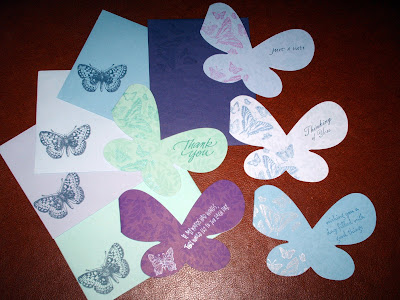 I found these butterfly-shaped cards at impressrubberstamps.com