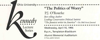 The program for the Kennedy Lecture.