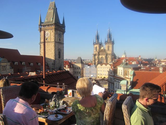 Czech please terasa hotel u prince for Terrace u prince prague