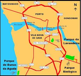 Localização do Parque da Lavandeira