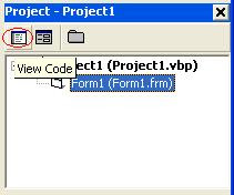 How to open VB Code Editor Window - Click View Code button