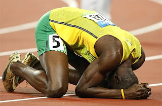 Usain Bolt after 200 meters