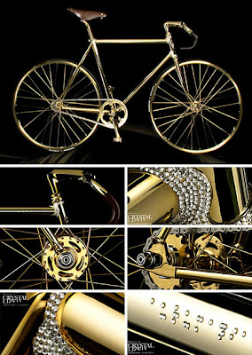 Extraordinary Golden Bike