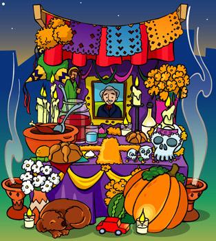 el día de muertos es una celebración mexicana que honra el 2 de ...