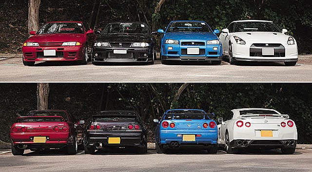 Nissan Skyline GT-R s in the USA Blog: 4 Generations - R32 ...