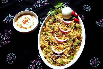 Mutton Pulao (Malabar Cuisine) / Malabar Mutton Pulao recipe / Mutton Pulao Malabar Style recipe / Mutton Pulao recipe