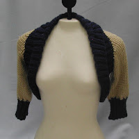 Bolero Jacket/Shrug in blue and cream...just one of the items sold last night