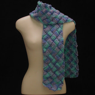 This is the Caribbean Blue Scarf that was featured in a treasury...Yay!!