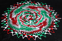 Here's my doily for a little Christmas in July