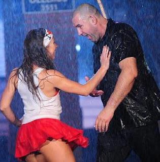 Bailando bajo la lluvia en ShowMatch