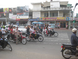 Lots of motorbikes on the streets