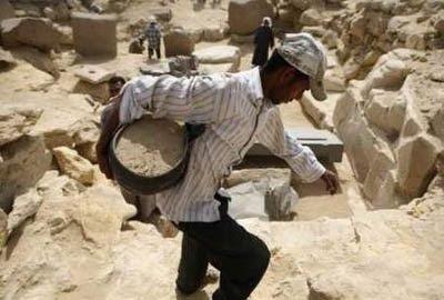 Pirâmide Menkauhor, sitio das escavações