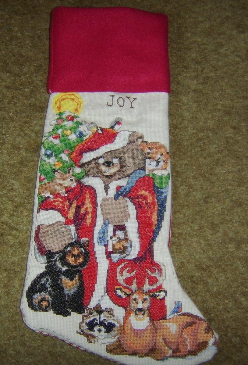 Love2Quilt22002 Cross Stitch Christmas Stocking