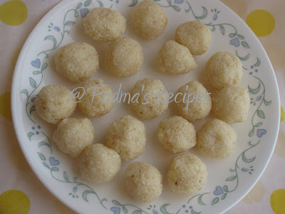 ... of the easiest and simplest way to make coconut laddu's in a jiffy
