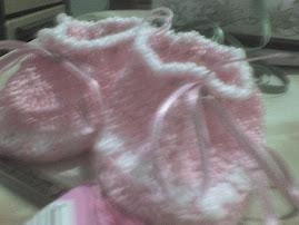 escarpín rosado con cintas al tono