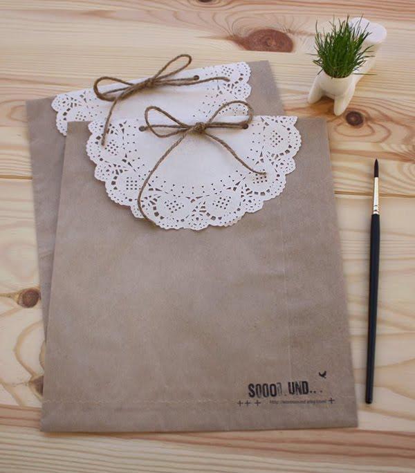 Karmuca y cuquino sobres con blondas - Blondas de papel ...