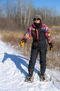 Mary Snowshoeing