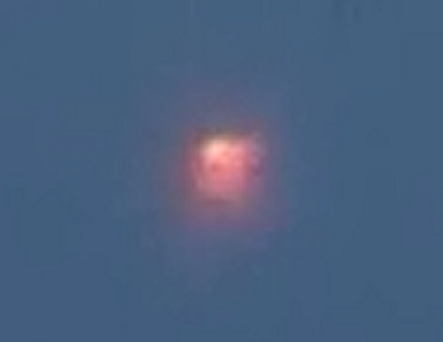 Red Glowing UFO Spotted Flying Above England, UFO Sightings
