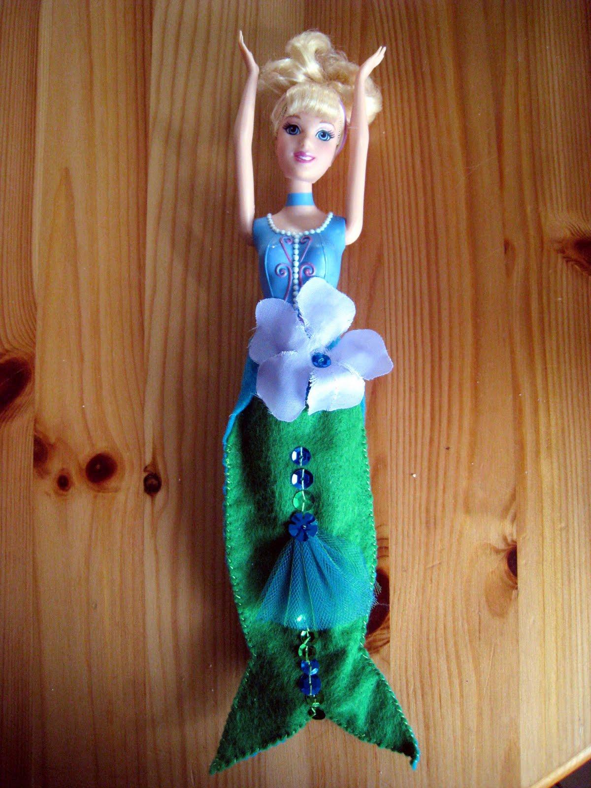 Поделки для девочек: Как сделать хвост русалки для куклы 94