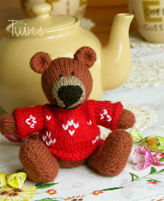 Free Teddy Bear Baby Blanket Knitting Pattern