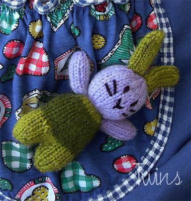 Twins Knitting Pattern Minishop Amigurumi Pocket Bunnies Free