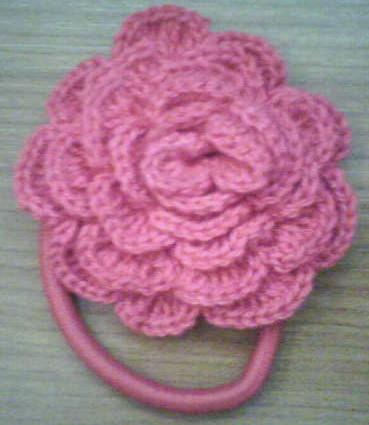 Gomas Para el Pelo en Crochet