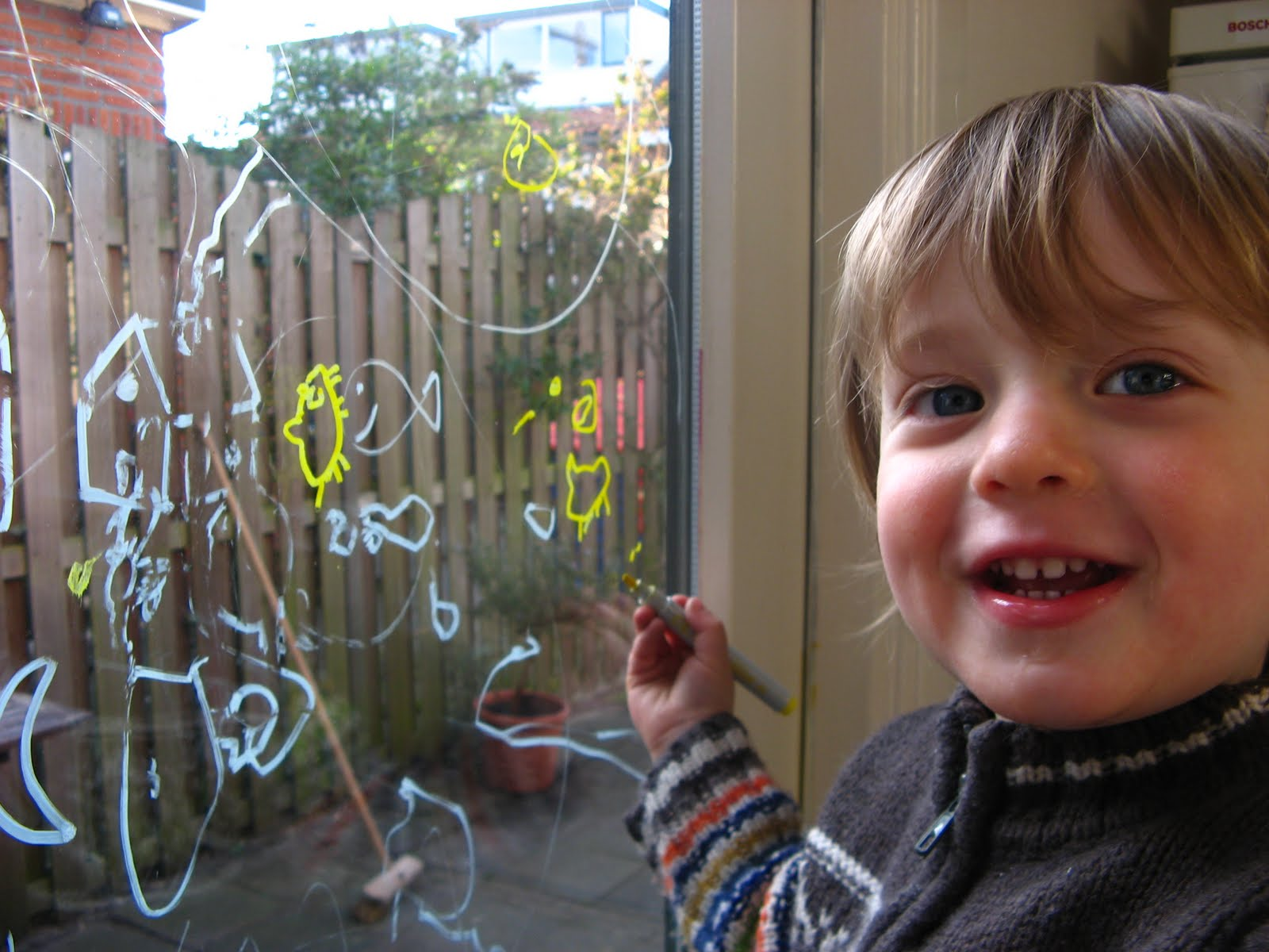 My Mama Day: Drawing on glass