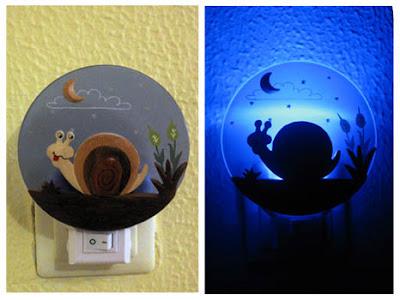 lámpara infantil de caracol
