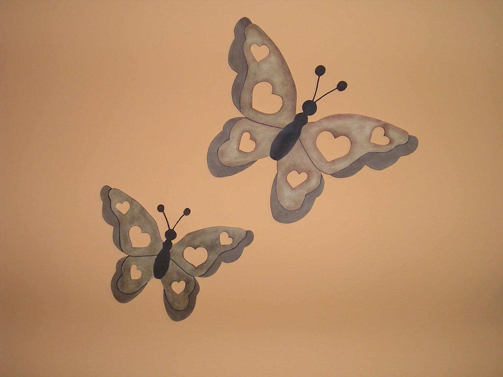 Plantillas de mariposas para pintar en la pared imagui - Plantillas de mariposas para pintar ...