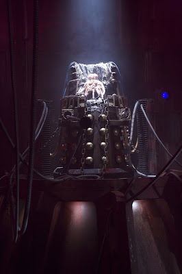 Dalek Caan open and chained up