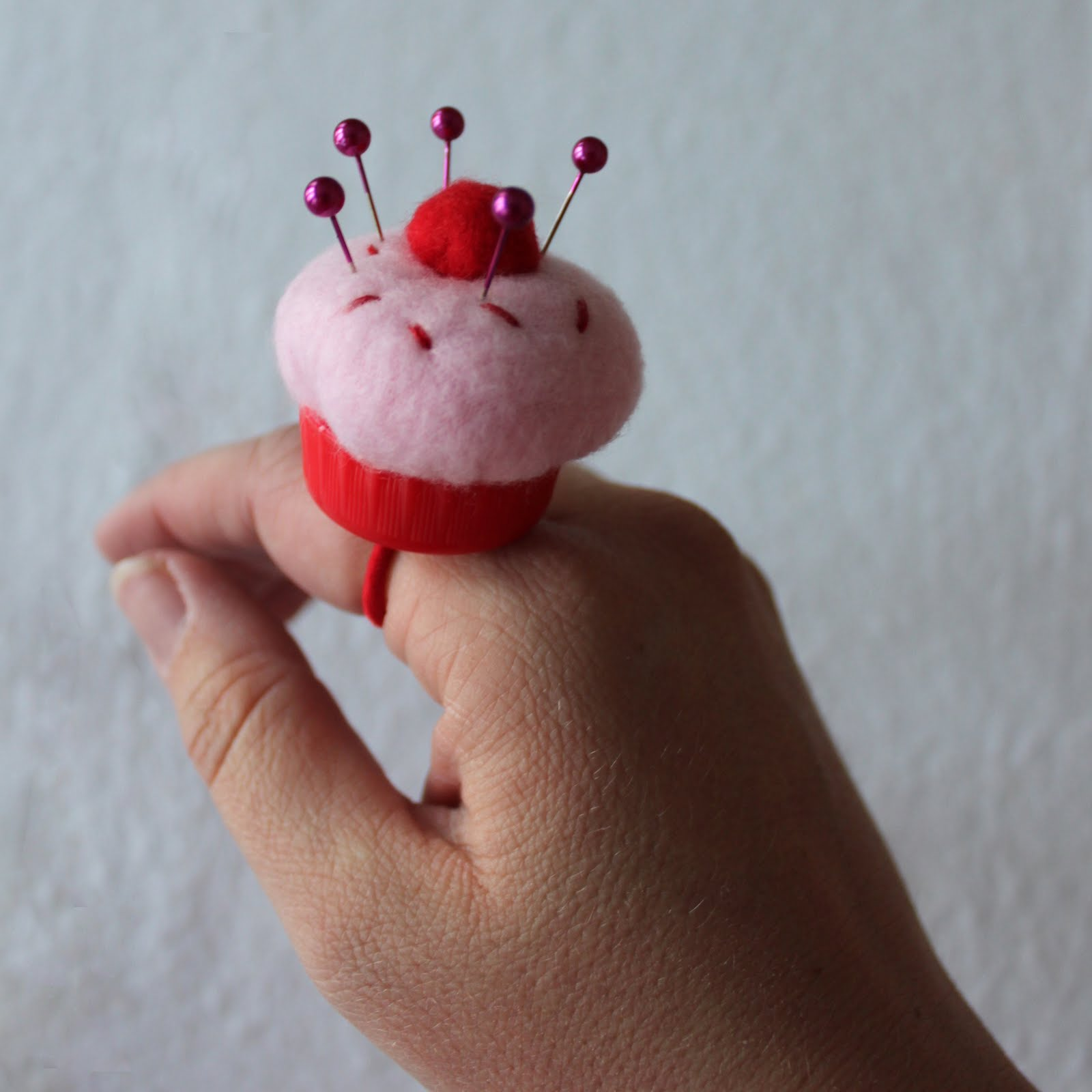 you can even turn it into a pin cushion ring, for when you