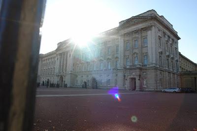 The sun over Buckingham Palace