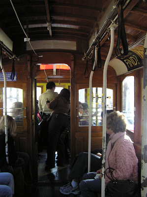 Inside of cable car