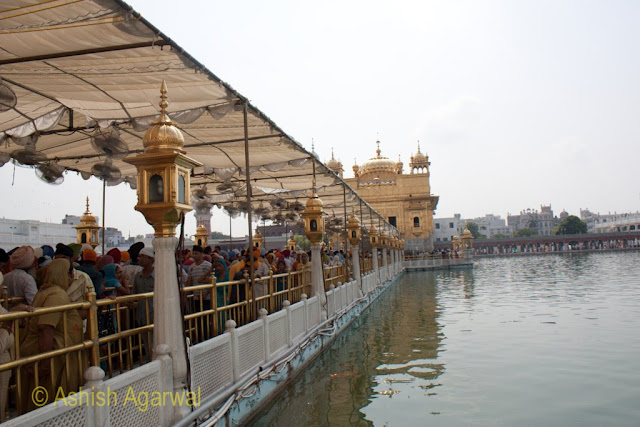 Closer view of the marble causeway leading to the Darbar Temple, just after doing the visit