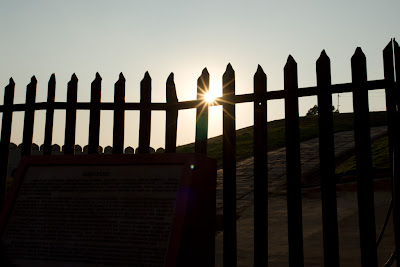 Sun twinkling through the Agra Fort fence