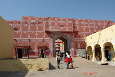 Entry to the inner areas of the Jaipur City Palace