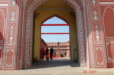 View of the inside of the Jaipur City Palace