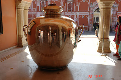 The great silver urn used by the former ruler of Jaipur