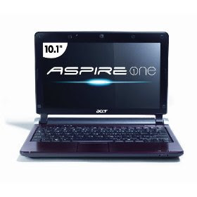 Acer Aspire One AOD250-1706 10.1-Inch Red Netbook - 7.5 Hour Battery Life