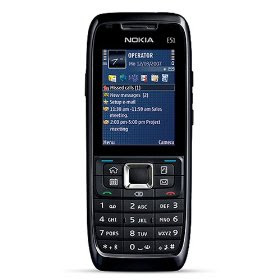 Nokia E51 Unlocked Phone with 2 MP Camera, 3G, Wi-Fi, MP3/Video Player, and MicroSD Slot--U.S. Version with Warranty (Black Steel)