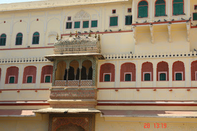 Photo of Colorful balcony and structure of the Jaipur City Palace