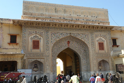 Photo: Ceremonial Doorway inside Jaipur