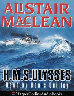 HMS Ulysses (published in 1955) - first book written by Alistair Maclean and about the struggle of a doomed ship during the war